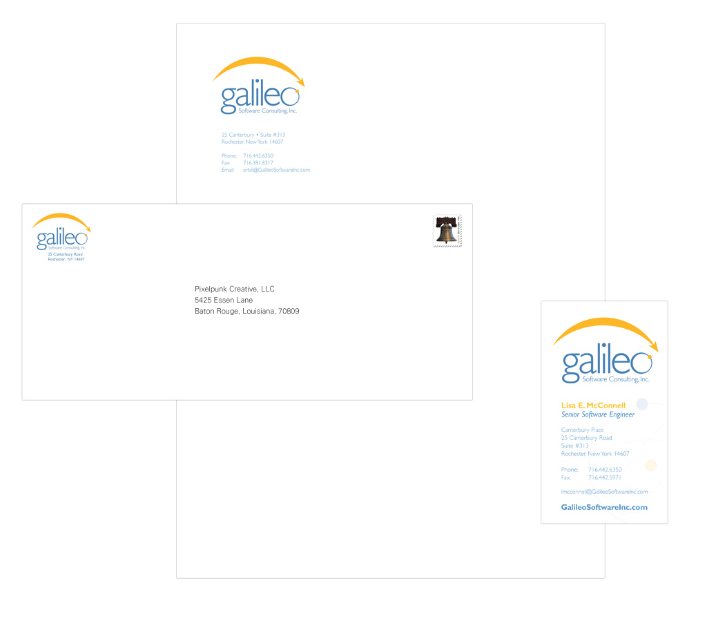 Portfolio Sample | Galileo Software Logo Design
