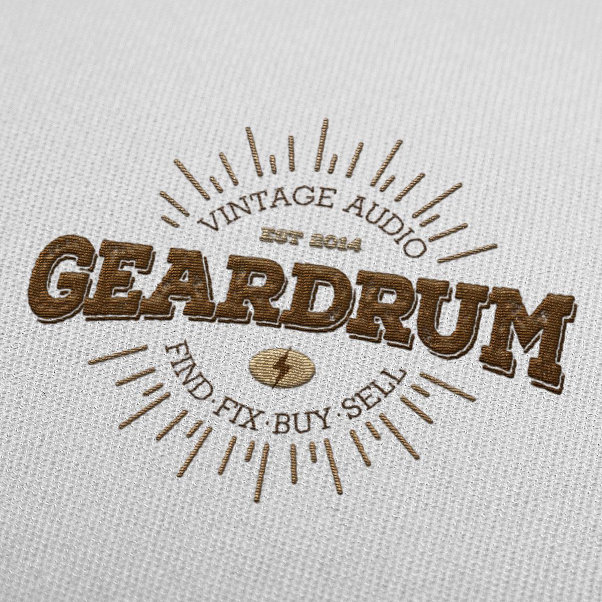 Portfolio Sample | Geardrum Audio Embroidered Logo