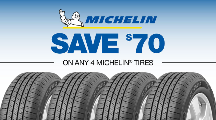 Image of a Michelin Promotion for Monro Auto Service