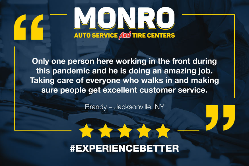 Image of Monro testimonial graphic for social media