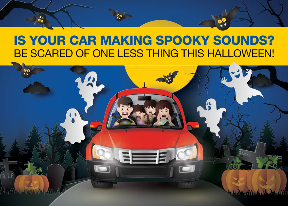 Image 1 of 2: Halloween promotional graphic for social media