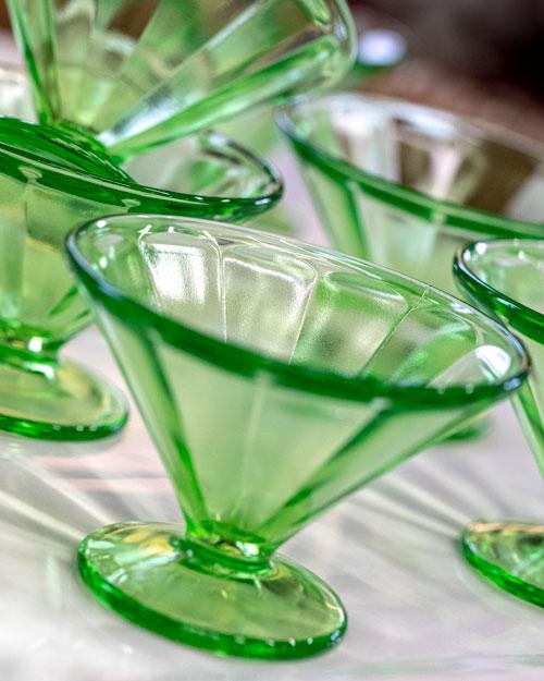 Photo of Social Media example for Windsor Cottage - Green vintage sundae dishes